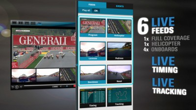 Un  primer vistazo al reproductor MultiScreen de MotoGP™