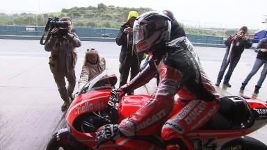 Arranque pasado por agua en el Test MotoGP™ de Jerez