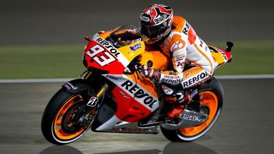 Márquez, delante de las Yamaha en la FP2 de Qatar