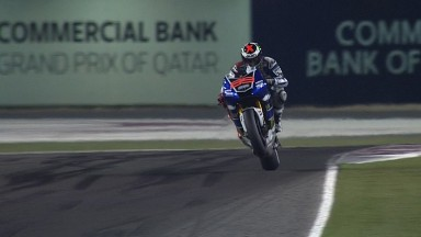 Lorenzo wins in Qatar from Rossi and Márquez