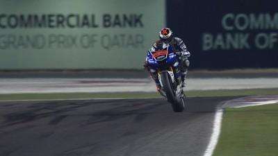 Lección magistral de Lorenzo en Qatar, Márquez se estrena con un podio