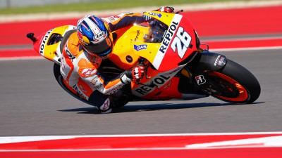Pedrosa ahead as Marquez escapes crash