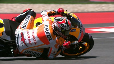 Marquez achieves career-first pole position