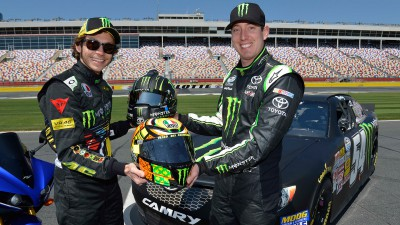 Rossi carjacks Kyle Busch's NASCAR