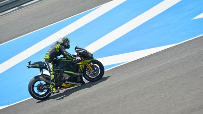 Crutchlow fastest as Barbera shines in Spain