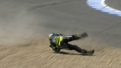 Two crashes but fourth place for Crutchlow