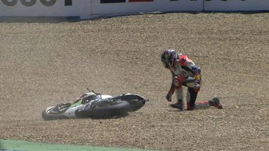 Difficult weekend ends with crash for Bradl