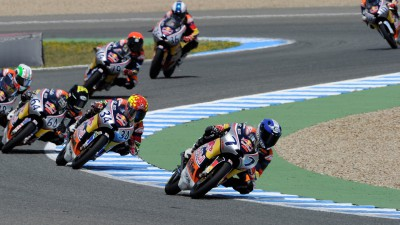 Bastianini from Hanika and Manzi in Red Bull MotoGP Rookies Cup