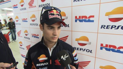 Pedrosa pleased to have had dry day