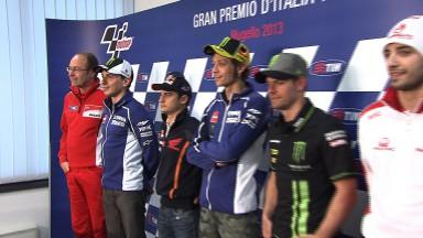 La rueda de prensa del Gran Premio TIM de Italia