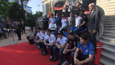 カタルーニャGPの発表が宮殿の庭園で開催