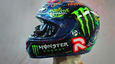 Lorenzo helmet up for sale in charity auction