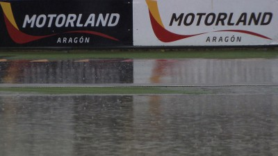 Aragon Day 1: Heavy rain for 2014 Honda