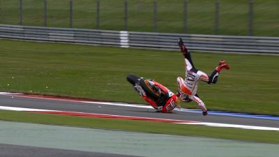 Bautista tops FP3 as Marquez crashes