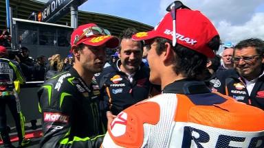 Nouveau podium pour Márquez, quatrième place pour Pedrosa