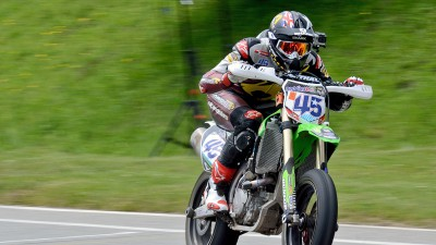 Redding scores in Belgian National Supermoto