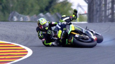 Crutchlow escapes major injury after crashes