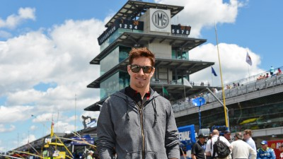 Hayden visits NASCAR race at Indianapolis