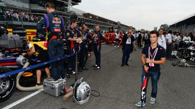 Pedrosa visits F1 race at Monza