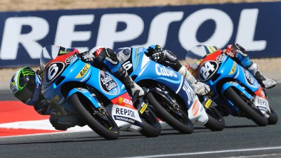 More history made as Maria Herrera wins CEV Repsol Moto3™ race in Navarra