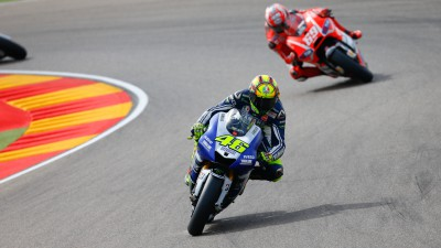 Rossi quickest from Marquez and Crutchlow