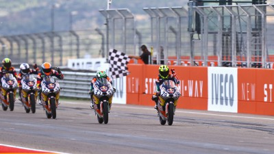 Bastianini wins Red Bull MotoGP Rookies Cup finale in Aragón
