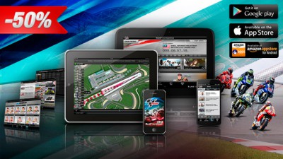 Erlebe die MotoGP™ Live Experience App mit 50% Rabatt