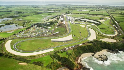 Hondaウエルカムプラザ青山で第16戦オーストラリアGPをパブリックビューイングで公開