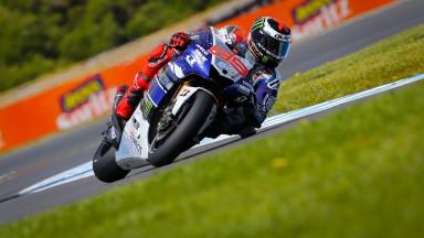 Lorenzo et Rossi en première ligne… malgré la mouette !