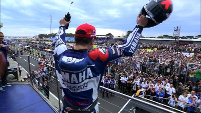 Lorenzo celebrates 50th career victory