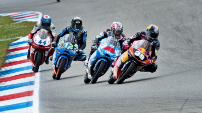 A triangular shootout for Moto3™ glory
