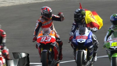 Lorenzo wins as Marquez becomes MotoGP™ World Champion