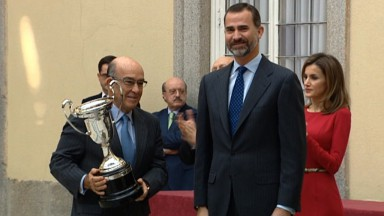 Dorna recoge uno de los Premios Nacionales del Deporte 2012