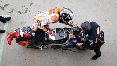 Marquez reviews title-winning season with Indianapolis team