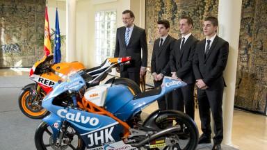 スペイン首相が3人の王者を首相官邸に招待