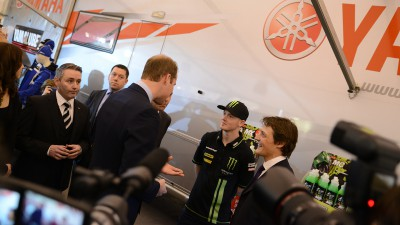 Prince William presents award to Bradley Smith