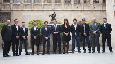 カタルーニャ州政府がチャンピオンたちを招待