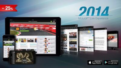L'applicazione MotoGP™ Live Experience 2014 è ora disponibile con il 25% di sconto