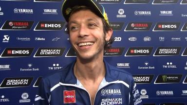 Rossi mehr als zufrieden, Lorenzo verpasst perfekte Runde