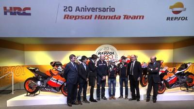 HRC&レプソル社がコラボレーション20周年を祝福