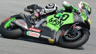 Gresini's Antonio Jimenez on new 2014 tyres