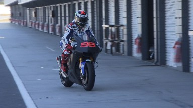 Lorenzo stays on top as Australian test continues