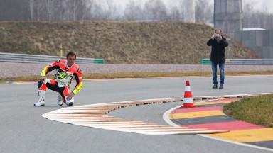 Kurve 11 vom Sachsenring mit mobilen Kerbs angepasst
