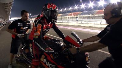 Aleix Espargaró lidera el primer día del Test nocturno en Losail