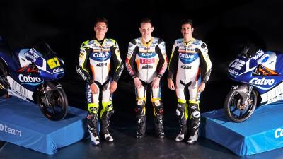 El Calvo Team estrena tridente para defender el título de Moto3™