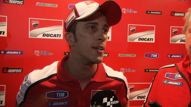 Dovizioso fourth, Crutchlow twelfth after crash