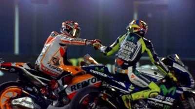 Marquez overcomes Rossi to take Qatar win
