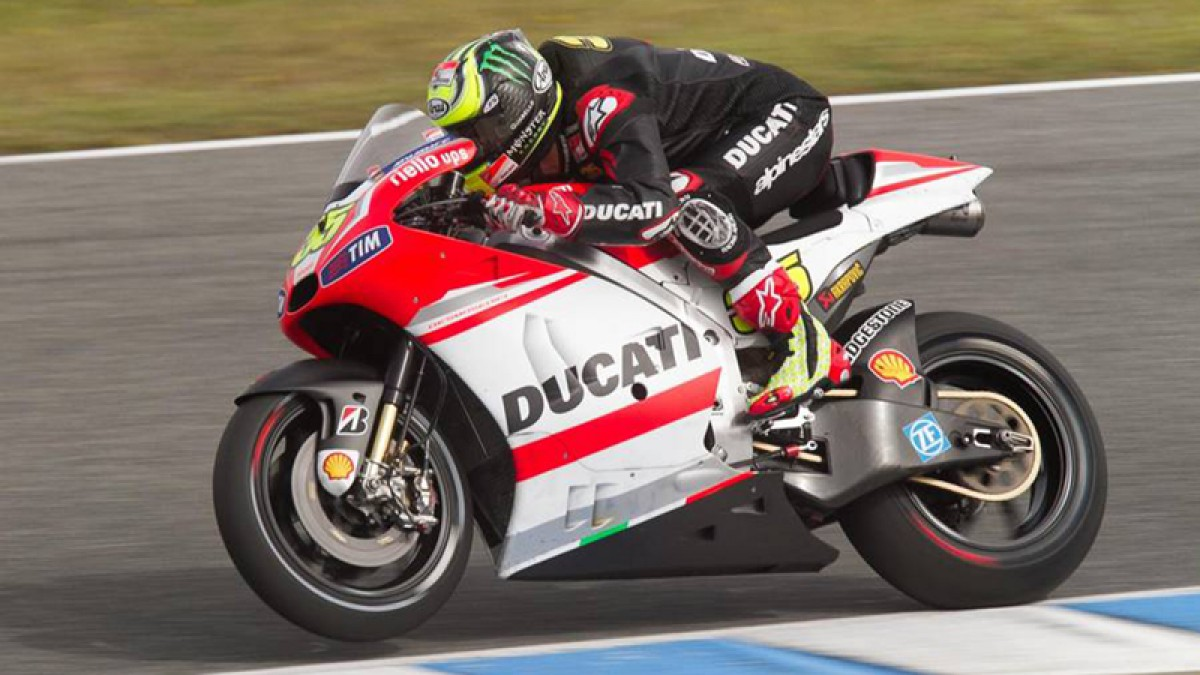 Ducati Team testing at Jerez conditioned by bad weather