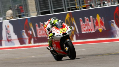 A glimpse of the podium for Iannone in Texas
