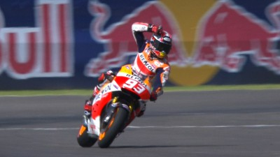 Third successive triumph for Marquez